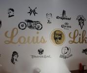 Louis'burger bar - Le mur