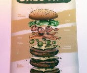 Pixies - l'affiche burger Gros Bill