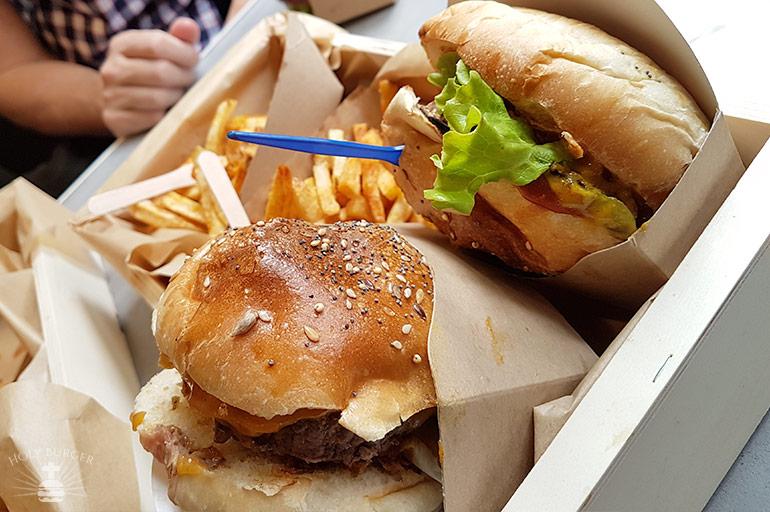 Le comptoir Volant - le panier de burgers